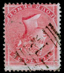 SG66bWi, 4d rose, USED. Cat UNLISTED. THICK PAPER. WMK INV.