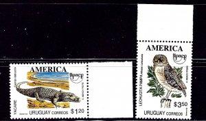 Uruguay 1504-05 MNH 1993 set