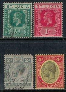 St. Lucia #64-6,73*/u  CV $14.00  (#66 thin)