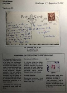1957 Rue England RPPC Postcard Cover To Brighton The Parish Church View