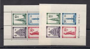 GERMANY 5NB8A-B MNH SOUVENIER SHEETS POST OFFICE FRESH