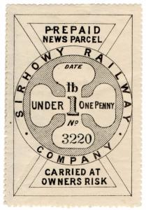 (I.B) Sirhowy Railway : Newspaper Parcel 1d
