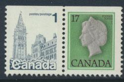 Canada SG 869a and SG 870 Used perf 12 x 12½ top imperf