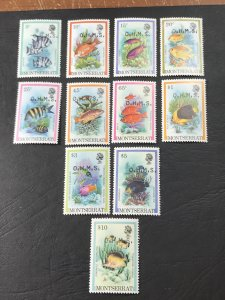 MONTSERRAT # O45-O55-MINT/NEVER HINGED-COMPLETE SET----OFFICIALS----1981