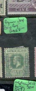 CAYMAN ISLANDS (P1812B)   KGV 1/2D  SG64  BIG BAY BOX CANCEL  VFU