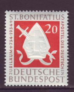 J1066 jls stamp 1954 germany mh scn 724 sword set/1