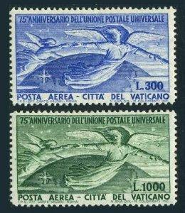 Vatican C18-C19,MNH.Michel 161-162. UPU-75,1949.Angels and Globe.