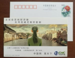 Suzhou ancient canal,Italia Venice The Grand Canal,CN04 CNC network advert PSC
