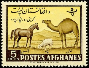 Afghanistan 1961 Horse, Sheep and Camel MH**