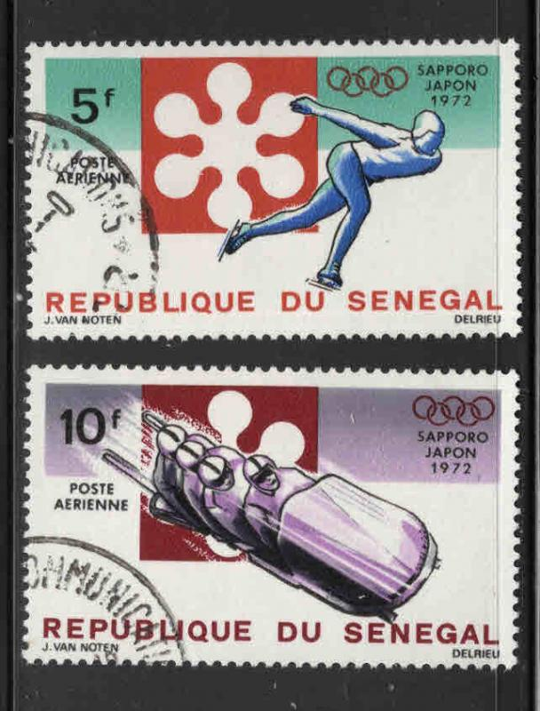Senegal Scott C107-108 Olympic airmail stamp short set