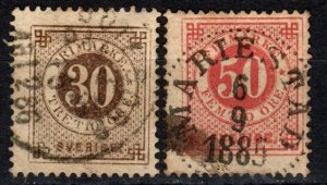 Sweden #35-6  F-VF Used CV $11.00 (X5356)