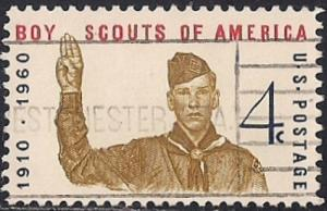 1145 4 cent Boy Scouts Jubilee VF used