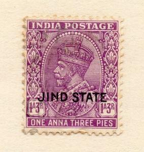 India Jhind 1927-37 Early Issue Fine Used 1a.3p. Optd 272903