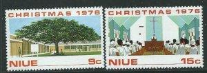 NIUE SG211/2 1976 CHRISTMAS MNH