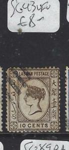 LABUAN  (P1601BB) QV  10 C  SG 43     VFU
