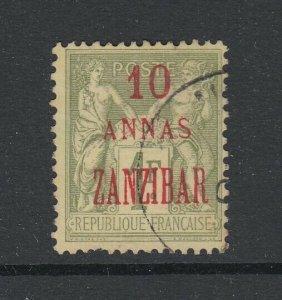 Zanzibar (French Offices), Scott 26a (Yvert 29a), used