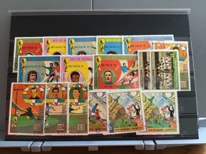 Rep De Guinea Ecuatorial Munich 74 Football   stamps  R25128