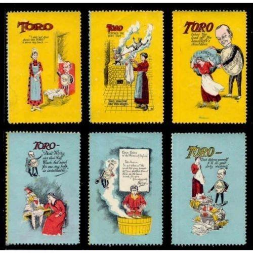 Great Britain -TORO Laundry Product Advertising Poster Stamps