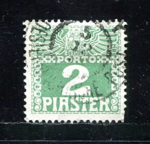 x464 - AUSTRIA Levant Offices in Turkey - Sc# J10 - 2 Piaster Postage Due. Used