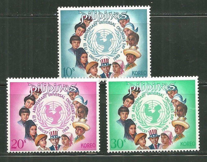 Philippines MNH 1035-7 15th Universal Children's Day