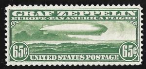 C13 65 cents Zeppelin Stamp mint OG NH EGRADED SUPERB 99 XXF