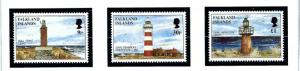 Falkland Is 676-78 MNH 1997 Lighthouses