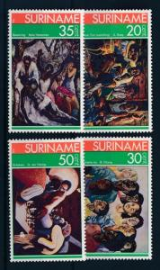 [SU 037] Suriname 1976 Paintings - Chess  MNH