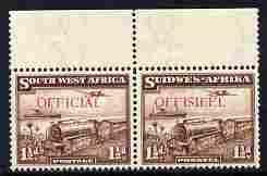 South West Africa 1938 OFFICIAL overprint on Mail Train 1...