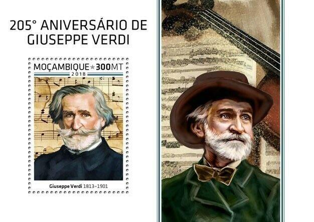 HERRICKSTAMP NEW ISSUES MOZAMBIQUE Giuseppe Verdi S/S