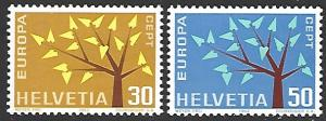 Switzerland #416-417 Mint Hinged Set of 2 Europa