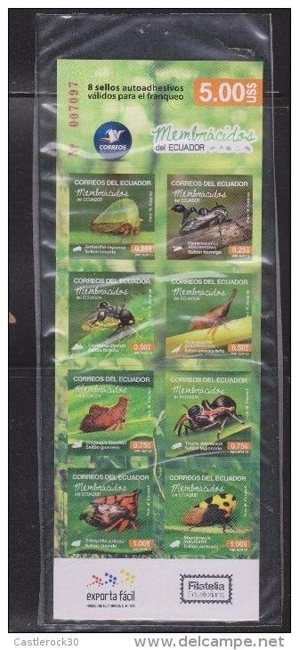 O) 2015 ECUADOR, INSECTS, MEMBRACIDOS -MEMBRACIDAE, BOOKLET, XF