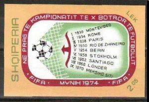 1973 Albania B49b 1974 FIFA World Cup in Munich