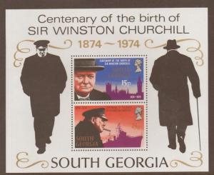 SOUTH GEORGIA SGMS42 1974 CHURCHILL MNH