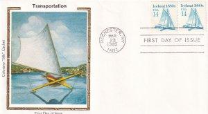1985, Iceboat-1880's, Colorano Silk, FDC (E11883)