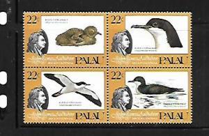 PALAU, 66A, MNH, SS, BLOCK OF 4, JOHN JAMES