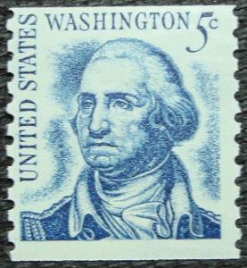 US #1304 *MH* SG Coil Single, George Washington SCV $.25