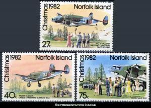 Norfolk Islands Scott 299-301 Mint never hinged.