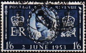 Great Britain. 1953 1s6d  S.G.535 Fine Used