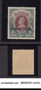 CHAMBA STATE - 1938 15r KGVI SG#98 - 1V - OVPT MNH