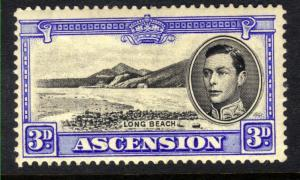 Ascension 1938 - 53  KGV1 3d Black & Ultramarine MM SG 42 CV £100 ( M1446 )