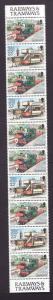 Isle of Man-Sc#459a-unused NH booklet pane-Trains-Locomotives-1991-92-