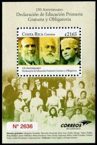 HERRICKSTAMP NEW ISSUES COSTA RICA Primary Education Souvenir Sheet