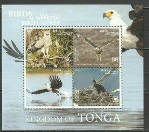 Tonga 2019 birds of prey eagles s/s MNH michel bl 131 16 euro