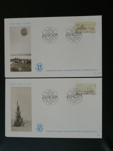 polar expeditions Europa Cept 1994 x2 FDC Greenland 79962