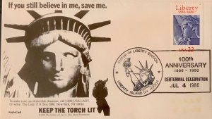 AppleCraft 2224 Statue of Liberty Awesome Cancelation 100th Ann Keep Torch Lit