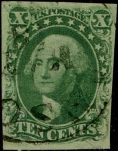 #15 10¢ VF+ USED WITH BLACK CANCEL CV $160 BQ316