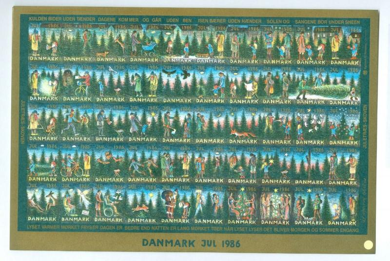 Denmark. Christmas Seal 1986.Comp. Set 9 Sheet. Scale/Proof Print. Imperforated