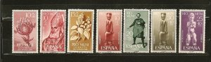 Rio Muni Collection of 7 Different Semi Postal Stamps Mint Hinged