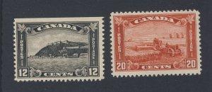2x Canada Mint Stamps #156-12c Citadel & #157-20c Combine Guide Value= $105.00