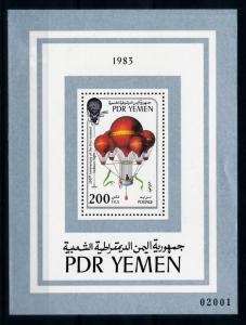 [77781] Yemen PDR 1983 Aviation Balloon Flight Souvenir Sheet MNH